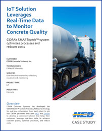 HED Case Study • IoT Solution Leverages Real-Time Data to Monitor Concrete Quality