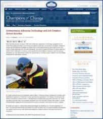 Entrepreneur Advances Technology and Job Creation Across America