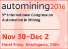 Automining 2016 - 5th International Congress on Automation in Mining